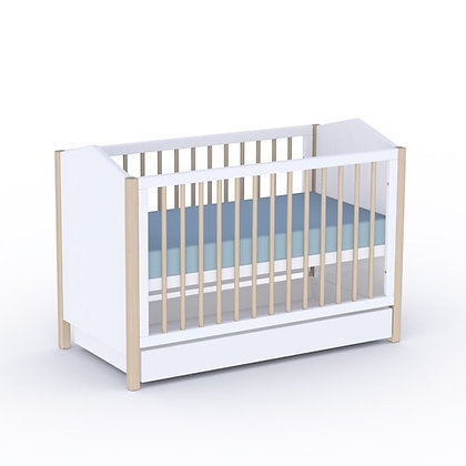Lit bébé évolutif Ninon 120cm Neige