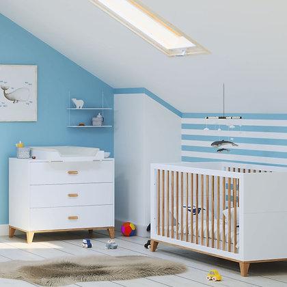 Chambre bébé Naïa Neige avec lit 70 x 140 cm