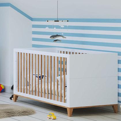Lit bébé évolutif Naïa 70 x 140 cm Neige