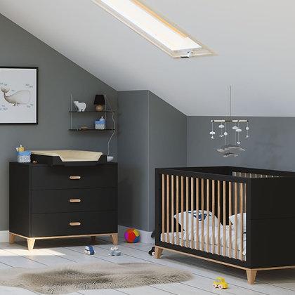 Chambre bébé Naïa Onyx avec lit 70 x 140 cm