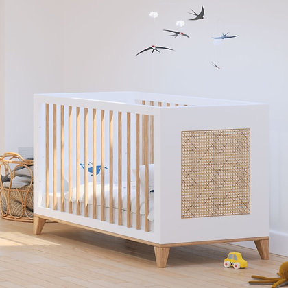 Lit bébé évolutif Nami 60 x 120 cm Neige