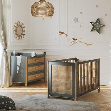 Chambre bébé Océania Silex avec lit 60 x 120 cm