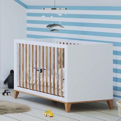 Lit bébé évolutif Naïa 60 x 120 cm Neige