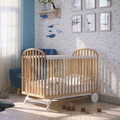 lit bébé rotin Delphy Théo Bébé