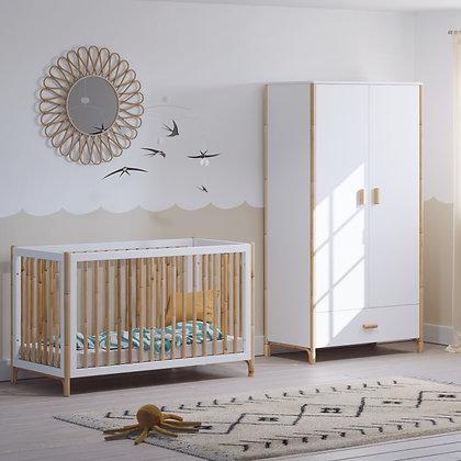 Chambre bébé Océane Neige avec lit 60 x 120 cm