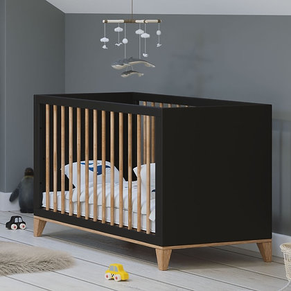 Lit bébé évolutif Naïa 60 x 120 cm Onyx