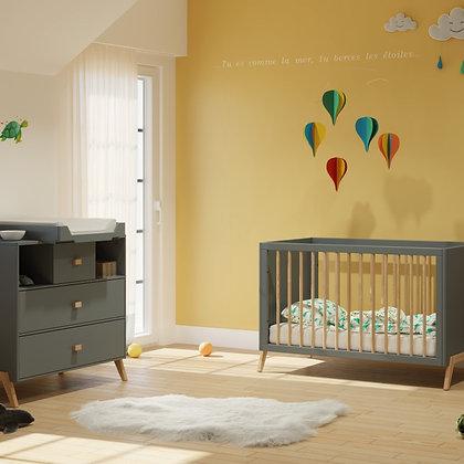 Chambre bébé Marélie Silex avec lit 60 x 120 cm