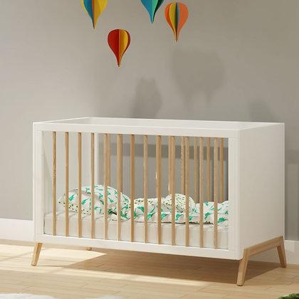 Lit bébé évolutif Marélie 60 x 120 cm Neige