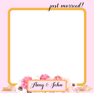 Copy of just married! 5x5 square overlay