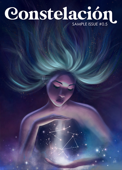 Estrella holding creation of the universe.