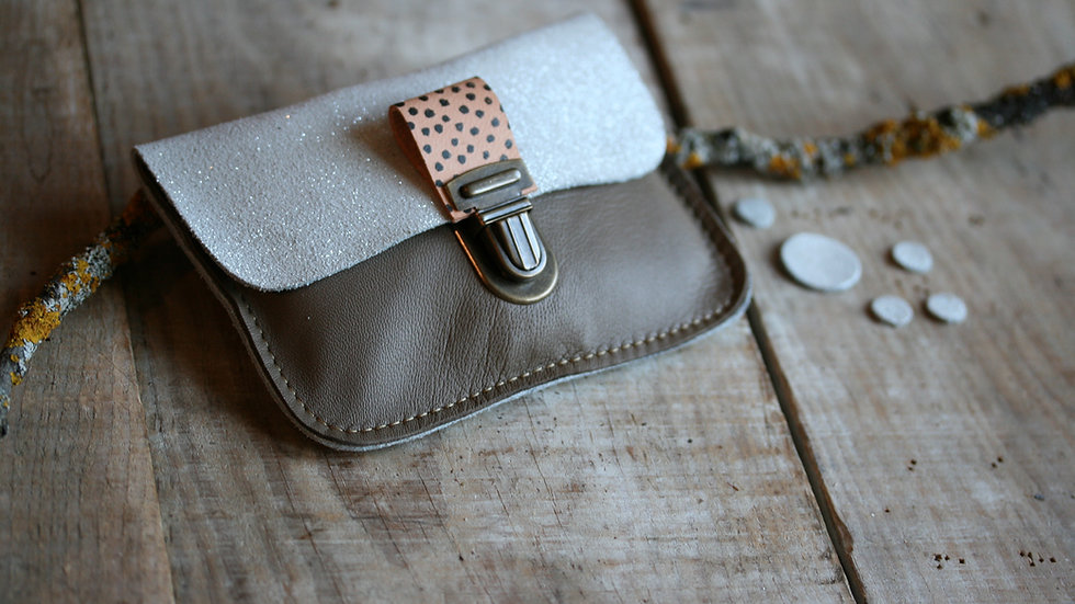 Kit à coudre pochette en cuir