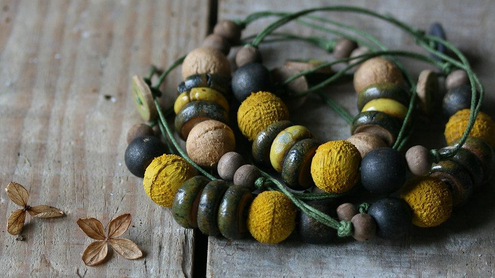 Bracelet perles et bois S'Enraciner