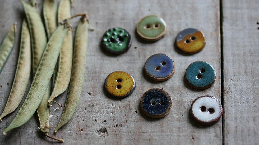 Lot de 6 minis boutons en porcelaine RUSTIK ref 015