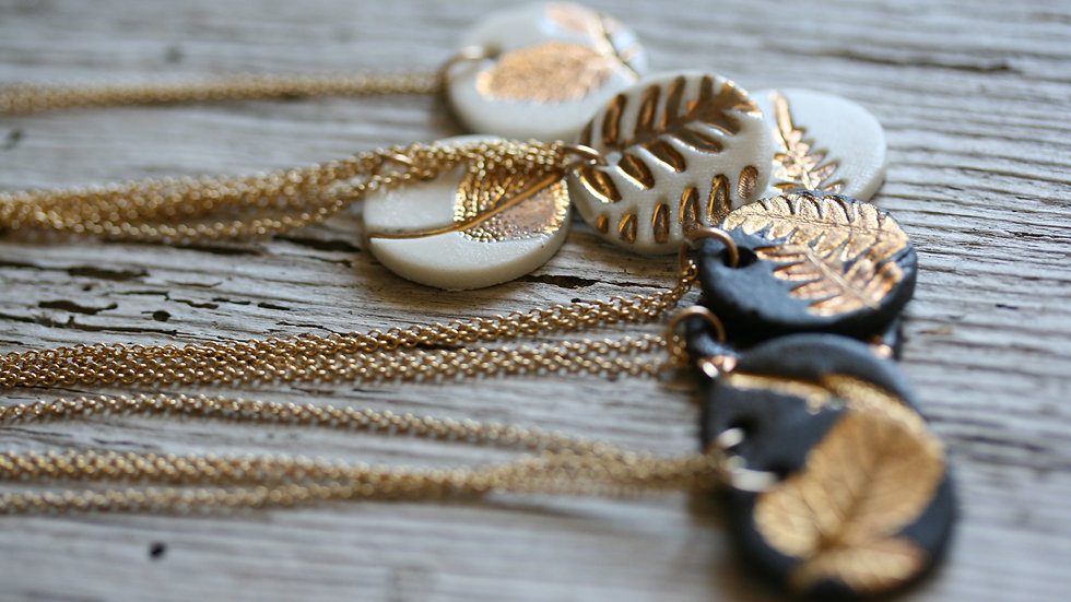 Collier herbier or