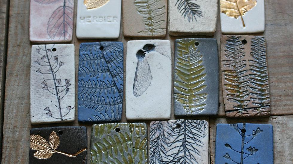 série 2 - TESSON échantillon en porcelaine herbier