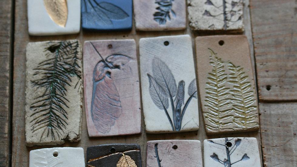 série 3 - TESSON échantillon en porcelaine herbier