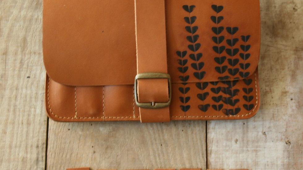 Pochette à aiguilles circulaires et à nécessaire à tricoter en cuir véritable