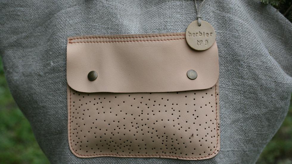 Kit poche en cuir à coudre cuir