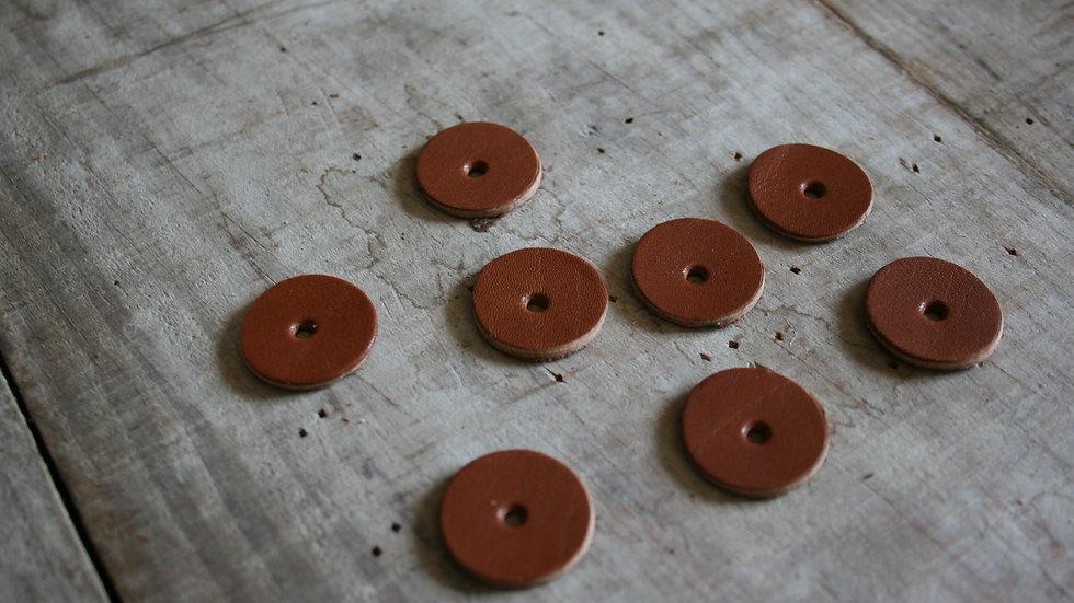 lot de 8 œillets en cuir 2 cm de diamètre