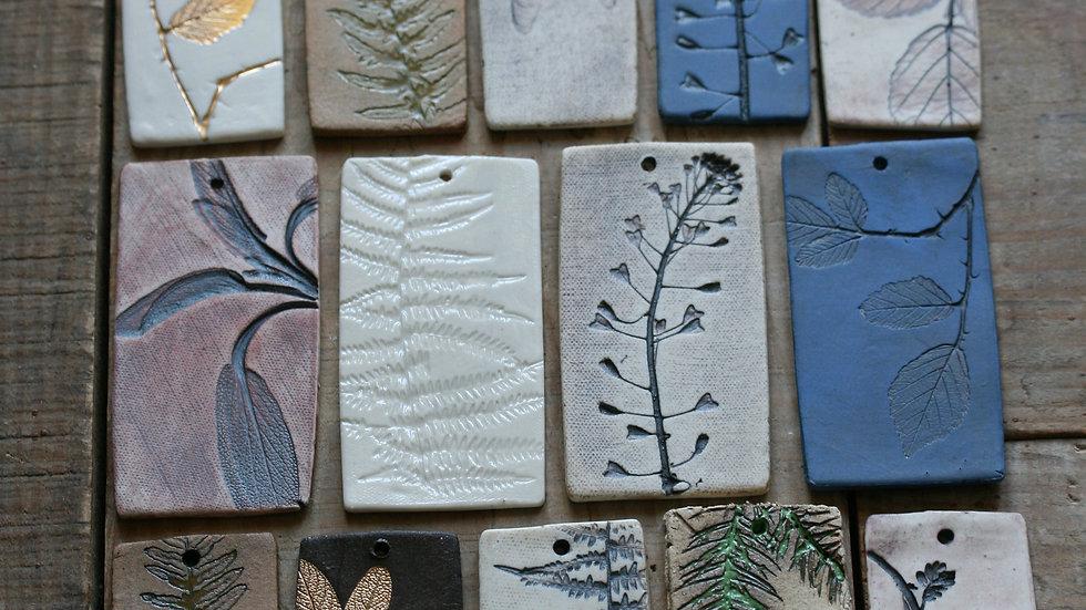 série 4 - TESSON échantillon en porcelaine herbier