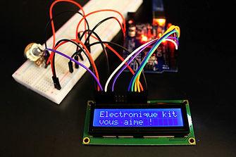 Tutoriel écran Lcd description bibliotheque 2 kit électronique débutant à monter Arduino tutoriel apprendre kit électronique explication meilleur composant
