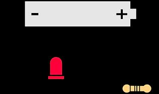 Schéma tutoriel branchement led batterie kit électronique