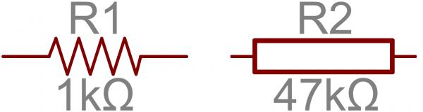 Symbole schématique résistanecs explication tutoriel kit électronique apprentissage