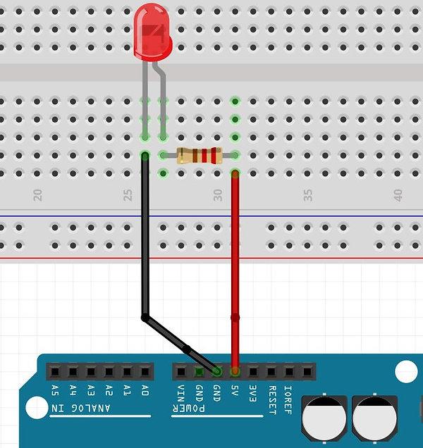 clignoter led bouton complet Arduino tutoriel apprendre kit électronique explication meilleur français.png.JPG