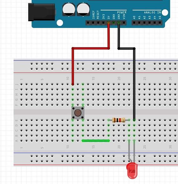 Branchement complet bouton Arduino tutoriel apprendre kit électronique explication meilleur français.JPG