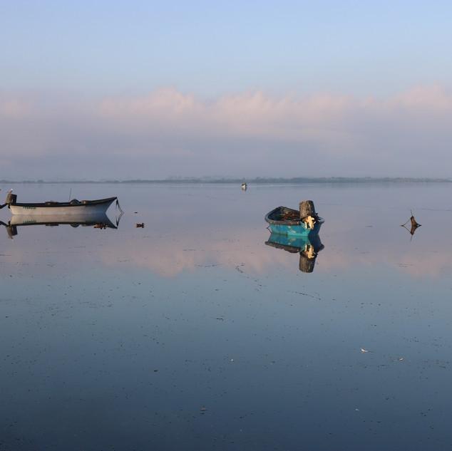 Barques sur étang