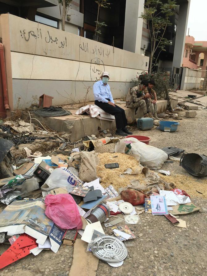 La ville de Qaraqosh dévastée