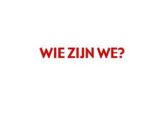wie zijn we?