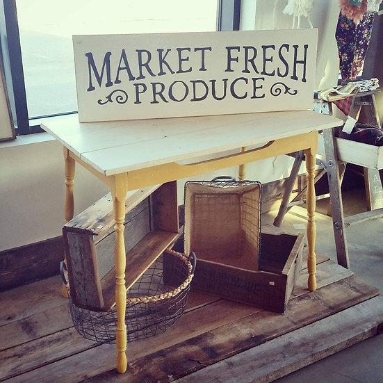 """Market Fresh Produce 12"""" x 36"""" wood sign"""