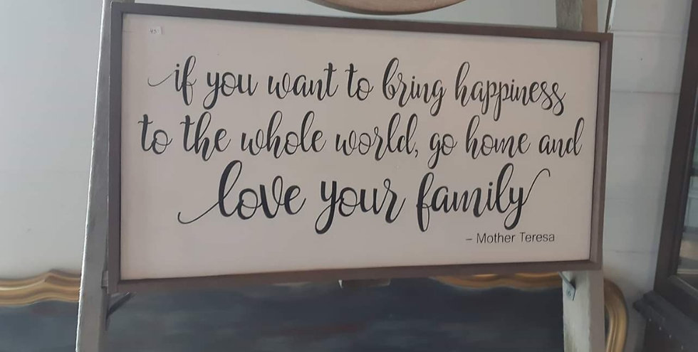 """If you want to bring happiness...12"""" x 24"""" wood sign"""