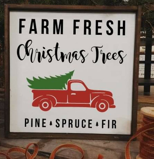 Farm fresh Christmas trees - Truck (Kit 115)