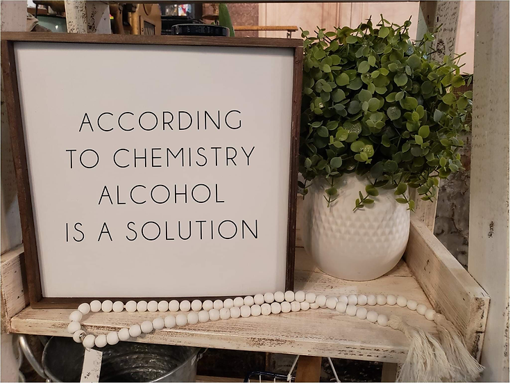 According To Chemistry Alcohol Is A Solution (Kit 82)