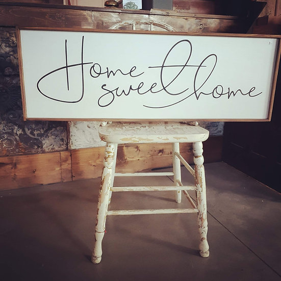 "Home Sweet Home 12"" x 36"" wood sign"