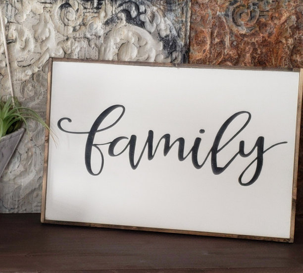 "Family 16"" x 24"" wood sign"