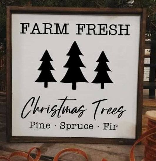 Farm fresh Christmas trees - Trees (Kit 116)