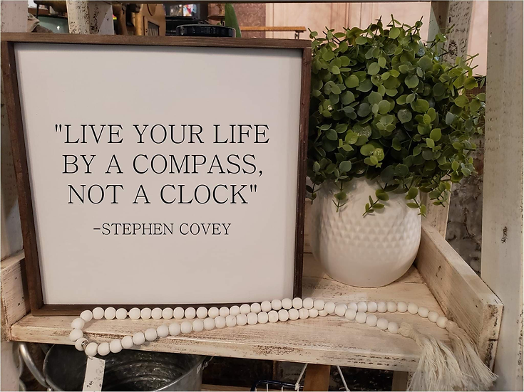 Live Your Life By A Compass Not A Clock (Kit 8)