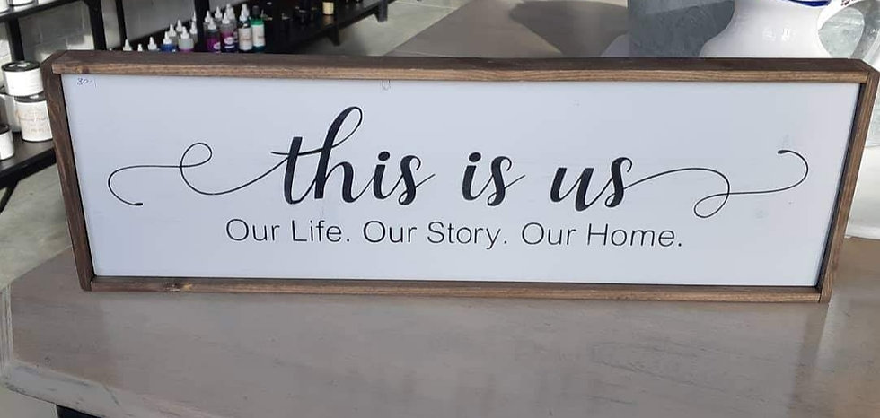 """This is us... 8"""" x 24"""" wood sign"""