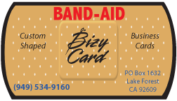 Band-Aid Die Cut Business Card