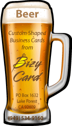 Beer  Glass Shaped Business Cards