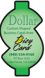 Dollar Sign Die Cut Business Card