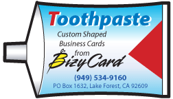Tooth Paste Shaped Business Cards