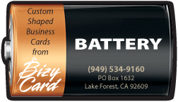 Battery Shaped Business Cards