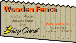 Fence Die Cut Business Card