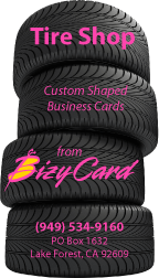 Tire Stack Die Cut Business Cards