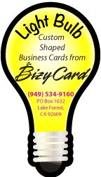 Light Bulb Shaped Business Cards