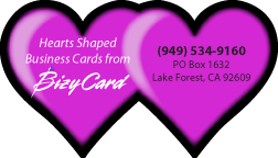 Heart Shaped Business Cards